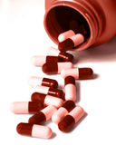 Duotone Pill bottle two Royalty Free Stock Images