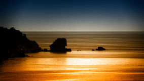 Duotone seascape. A seascape in two colour tones Stock Images