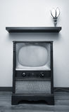 Duotone TV. An old TV looking especially retro when converted into a duotone image royalty free stock image