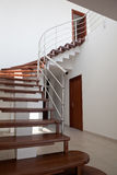 Duplex Apartment Stairs. Made from wood Stock Photo