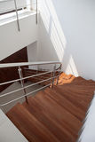 Duplex Apartment Stairs. Made from wood Royalty Free Stock Photography