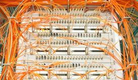 Duplex fiber optic patch cable Stock Images