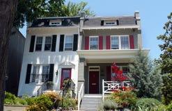 Duplex huis in de stad in Georgetown Royalty-vrije Stock Foto's