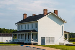 Duplex Keeper`s Quarters at Bodie Island Lighthouse Royalty Free Stock Images