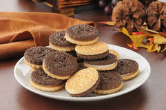 Duplex sandwich cookies Stock Images