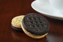 Duplex sandwich cookies Stock Photography