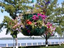 Duplexvase mit Blumen Lizenzfreie Stockfotos