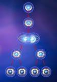 Duplicação da divisão de pilha da meiose ilustração royalty free