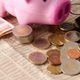 Duplicación del dinero ahorrada Fotografía de archivo