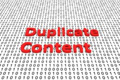 Duplicate content. In the form of binary code, 3D illustration Stock Photos