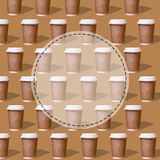 Duplicate patterns glass of coffee stock photos