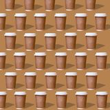 Duplicate patterns glass of coffee royalty free illustration