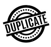 Duplicate rubber stamp. Grunge design with dust scratches. Effects can be easily removed for a clean, crisp look. Color is easily changed Royalty Free Stock Photos