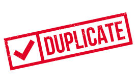Duplicate rubber stamp Stock Photo