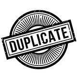 Duplicate rubber stamp Stock Images