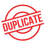 Duplicate rubber stamp Stock Image