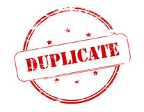 Duplicate. Rubber stamp with word duplicate inside,  illustration Stock Images
