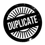 Duplicate stamp rubber grunge Royalty Free Stock Photo