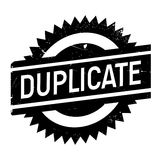 Duplicate stamp rubber grunge Stock Photo