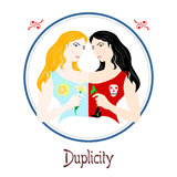 The duplicity sin Stock Photo
