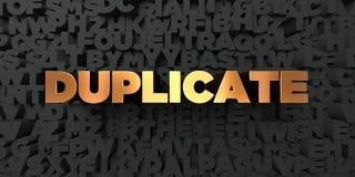 Duplikat - Goldtext auf schwarzem Hintergrund - 3D übertrug freies Bild der Abgabe auf Lager Lizenzfreie Stockbilder