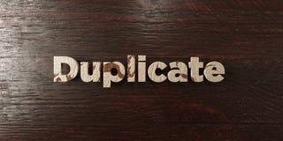 Duplikat - grungy hölzerne Schlagzeile auf Ahorn - 3D übertrug freies Archivbild der Abgabe Lizenzfreie Stockbilder