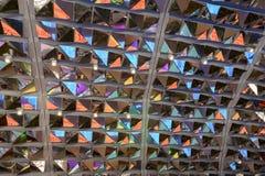 Duplique las astillas en el techo del pavillon de Irán, EXPO Milán 2015 imagen de archivo libre de regalías