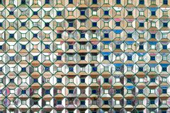 Duplique las tejas de mosaico, fondo cuadrado abstracto del pixel Fotografía de archivo libre de regalías