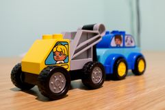 Duplo tow truck royalty free stock photos