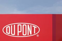DuPont sign on a panel. Haderslev, Denmark - May 29, 2016: DuPont sign on a panel. DuPont is one of America`s most innovative companies and it is an American Royalty Free Stock Photography