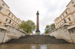 Duque da coluna de York e de Albany, Londres, Reino Unido fotos de stock royalty free