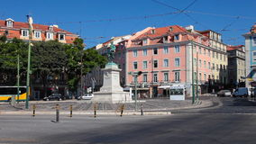 Duque da Terceira Square, in Cais do Sodre, Lisbon Royalty Free Stock Images