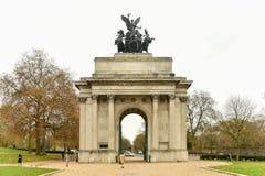 Duque de Wellington Memorial Arch, Londres fotografia de stock royalty free