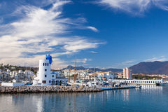 Duquesa-Hafen, Costa del Sol, Spanien Stockbilder