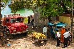 Durée à la jetée d'île de Havelock Photos libres de droits