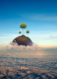 Durée au-dessus des nuages Images stock