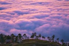 Durée au-dessus des nuages Photo libre de droits
