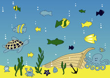 Durée d'océan et de mer Photos libres de droits