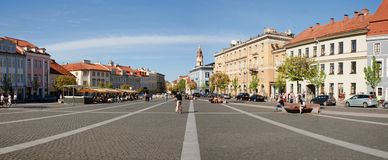 Durée de jour de ville de Vilnius : 2012 05 01 Photo libre de droits
