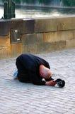 Durée de pauvreté sur la rue photographie stock