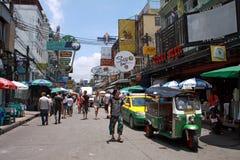 Durée de rue de Bangkok, Thaïlande Image libre de droits