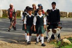 Durée de village chez l'Inde du nord-est Image libre de droits
