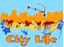 Durée de ville illustration stock