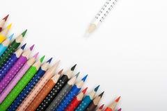 Durée des crayons de couleur Photos libres de droits