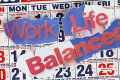 Durée et équilibre de travail Photographie stock libre de droits