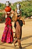 Durée rurale en Inde Image libre de droits