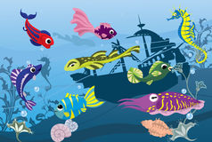 Durée sous-marine en mer Photographie stock libre de droits