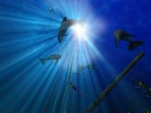 Durée submersible illustration stock