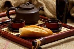 Durée toujours avec du thé Photo libre de droits