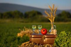 Durée toujours avec du vin Image stock